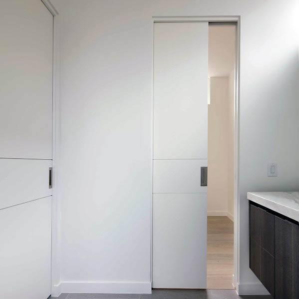 Sleek Pocket Door Ideas For Bathroom