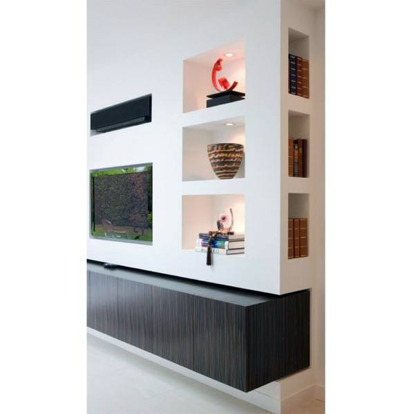 Sleek Recessed Wall Niche Ideas Family Room Tv Wall