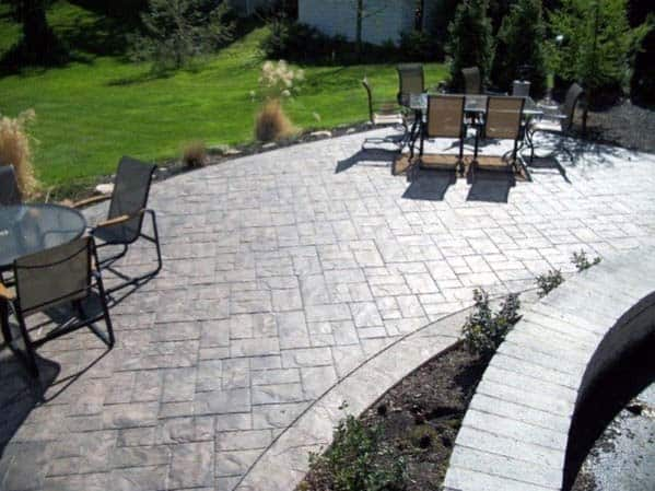 Sleek Stamped Concrete Patio Ideas