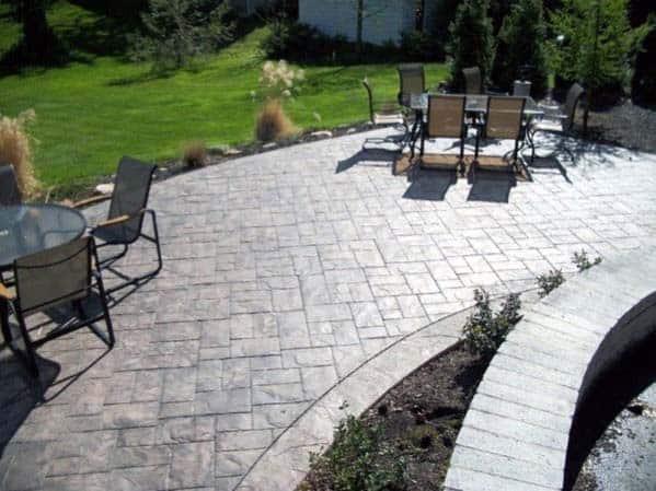 Sleek Stamped Concrete Patio Ideas