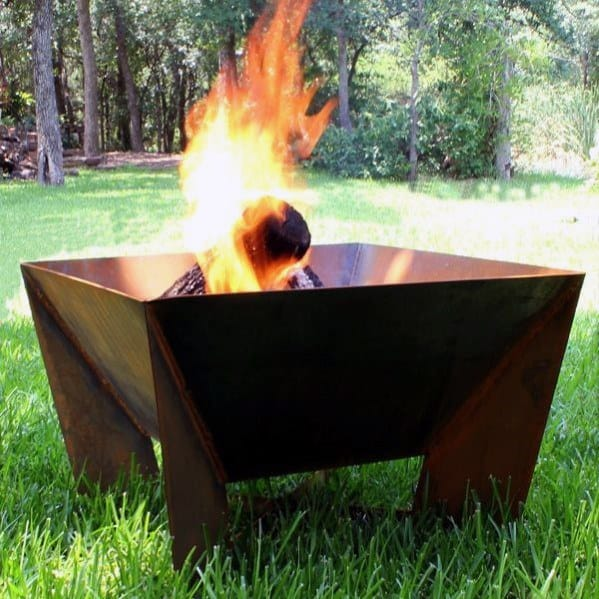 Sleek Steel Fire Pit Ideas