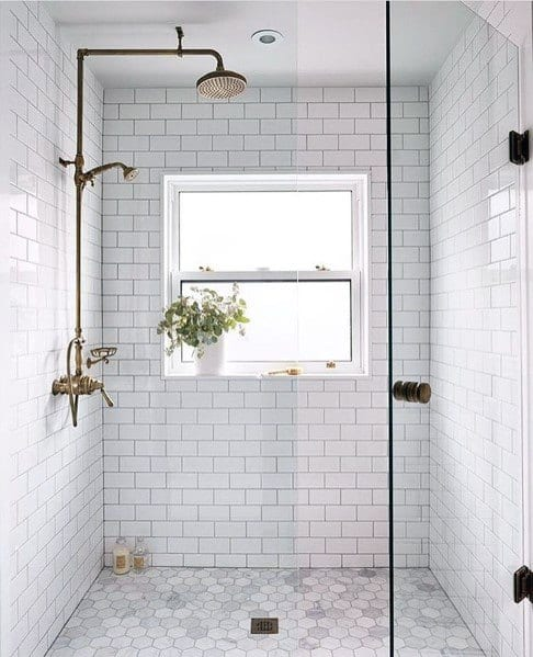 Sleek Subway Tile Shower Ideas