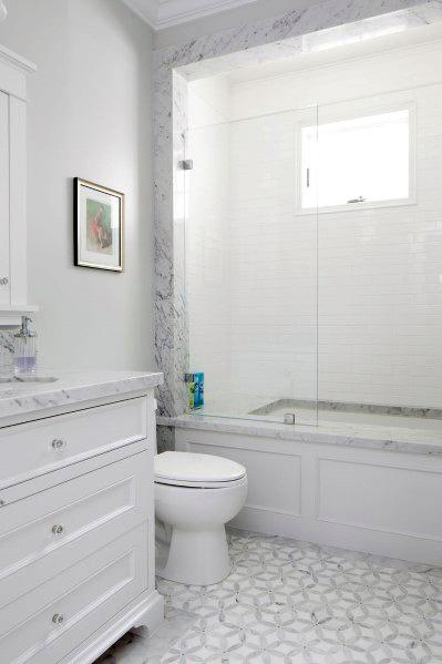 Sleek White Bathroom Ideas
