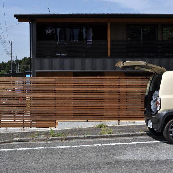 Sleek Wooden Fence Ideas