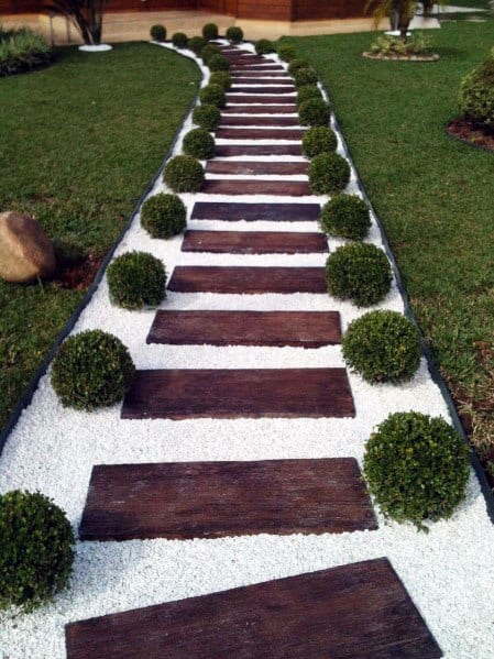 Sleek Wooden Walkway Ideas