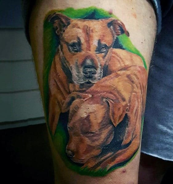 f2192bee7 100 Dog Tattoos For Men - Canine Ink Design Ideas Part Two