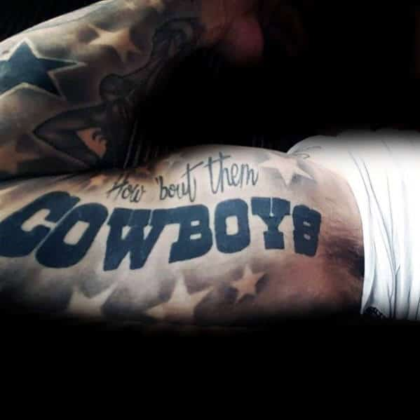 Sleeve Dallas Cowboys Quote Mens Tattoo