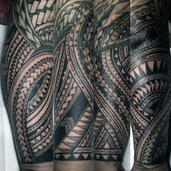 40 polynesian forearm tattoo designs for men masculine tribal. Black Bedroom Furniture Sets. Home Design Ideas