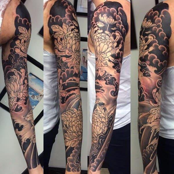 Sleeve Guys Japanese Water Tattoo Designs