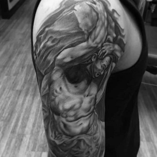 Sleeve Incredible Sisyphus Tattoos For Men