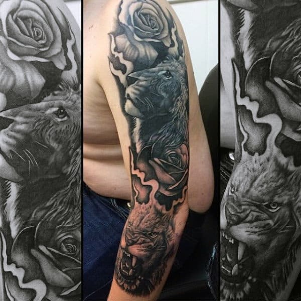 Sleeve Lion Tattoo Ideas For Men