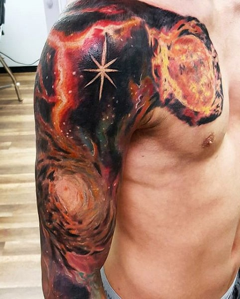 Sleeve Male Little Dipper Tattoo