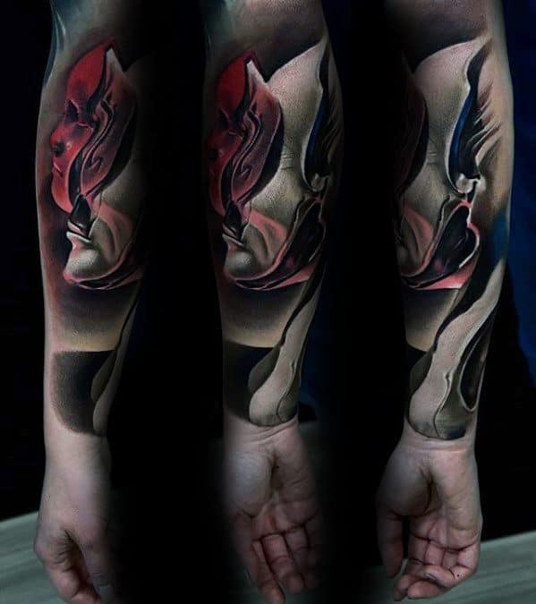 Sleeve Male Surrealism Tattoo Ideas