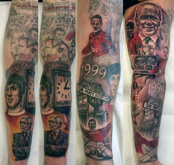 Sleeve Manchester United Tattoos For Gentlemen