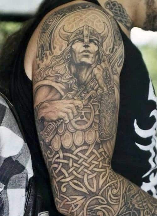 Sleeve Manly Men's Nordic Viking Tattoos
