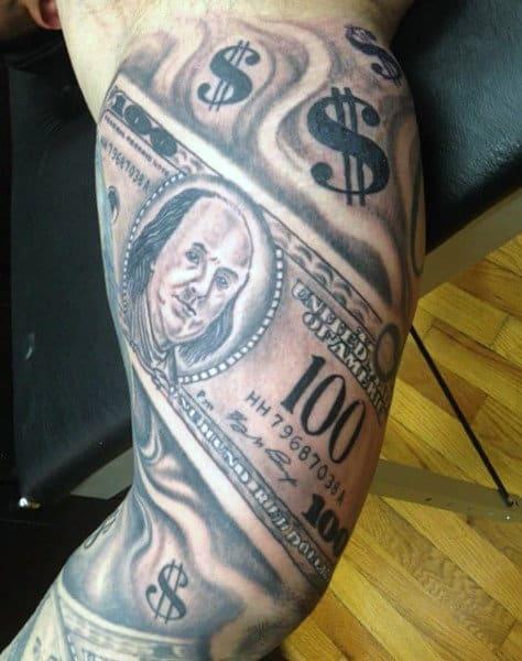 Sleeve Money Sign Tattoo For Men
