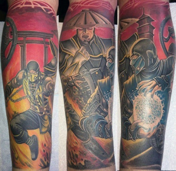 Sleeve Mortal Kombat Tattoo For Guys