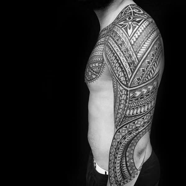 Sleeve Polynesian Awesome Tribal Guys Tattoo Designs