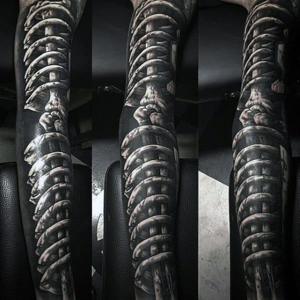 Bones Sleeve Tattoo Designs For Men