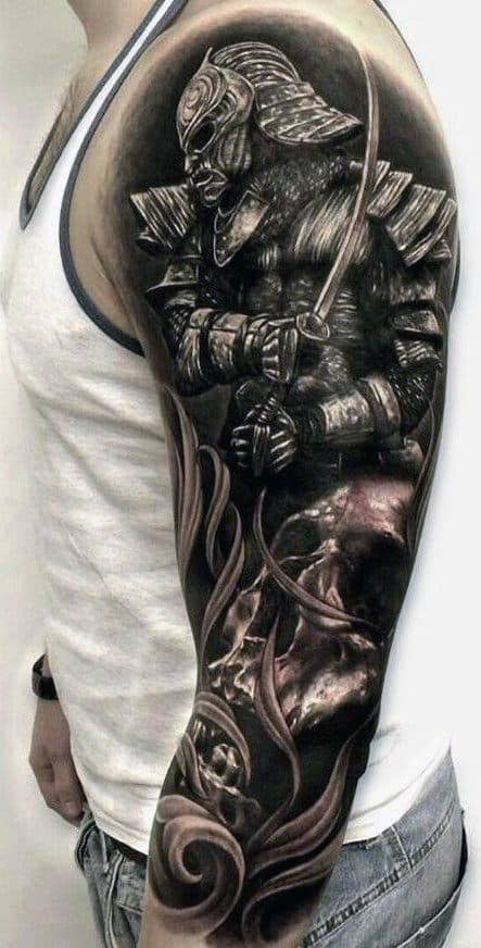 Warrior Sleeve Tattoo Ideas