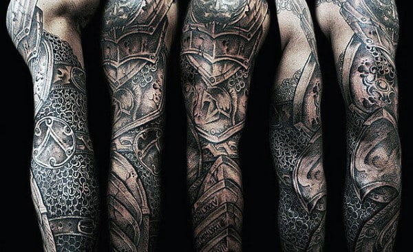 40 chain tattoos for men manly designs linked in strength rh nextluxury com tattoos of chainsaws tattoos of chains broken