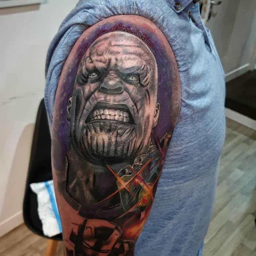 Sleeve Thanos Tattoo Chris Diligent