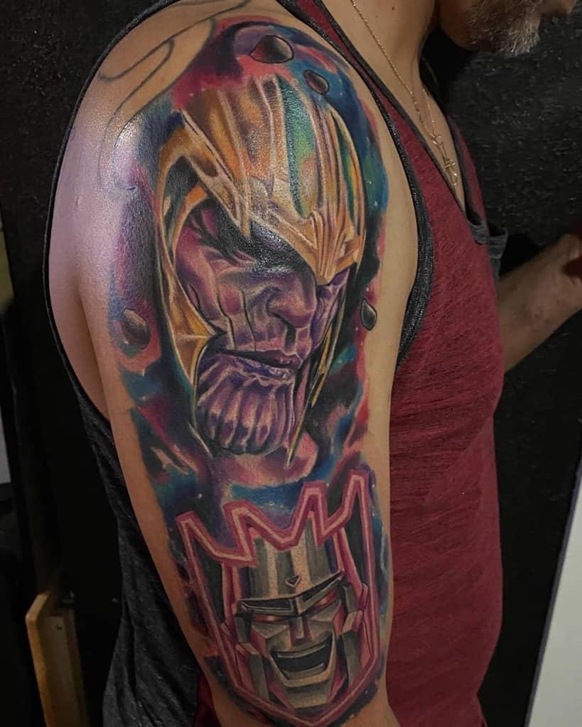 Sleeve Thanos Tattoo Goodzilla1