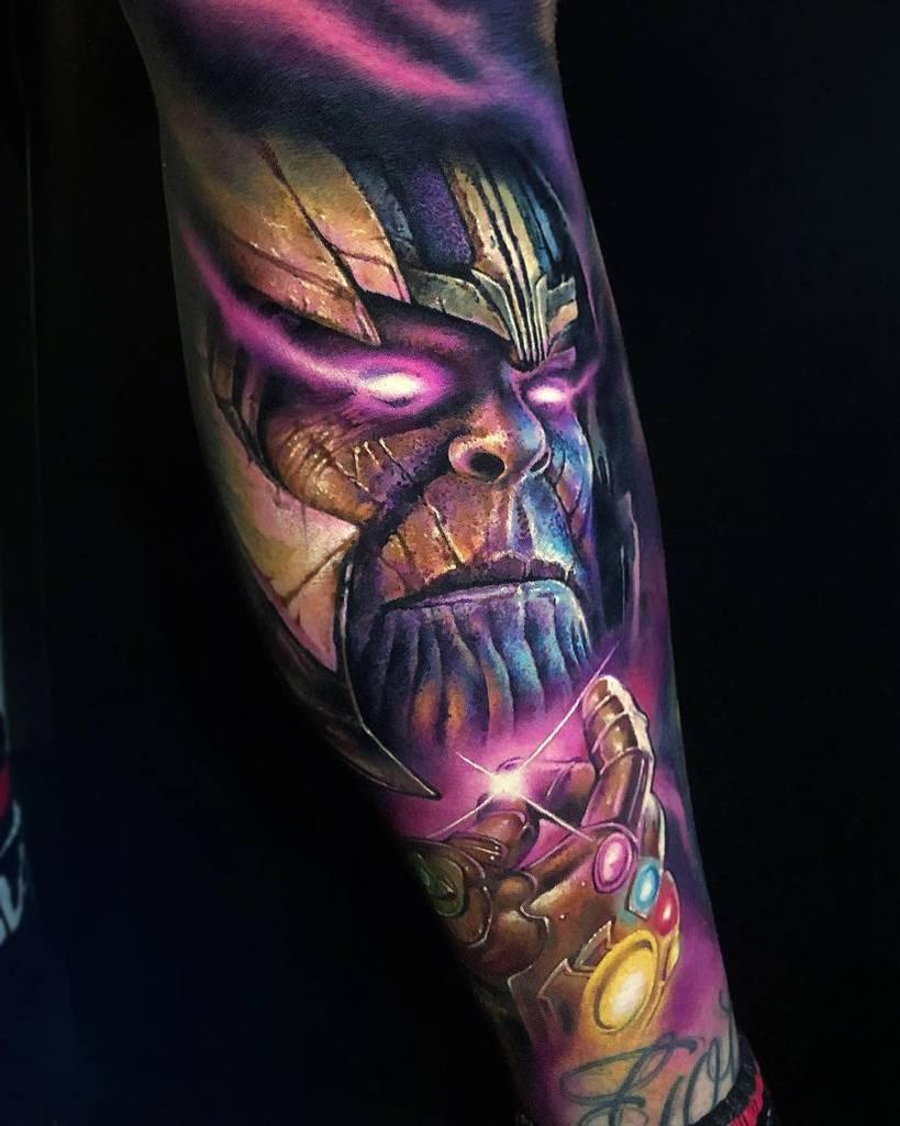Sleeve Thanos Tattoo Khailtattooer