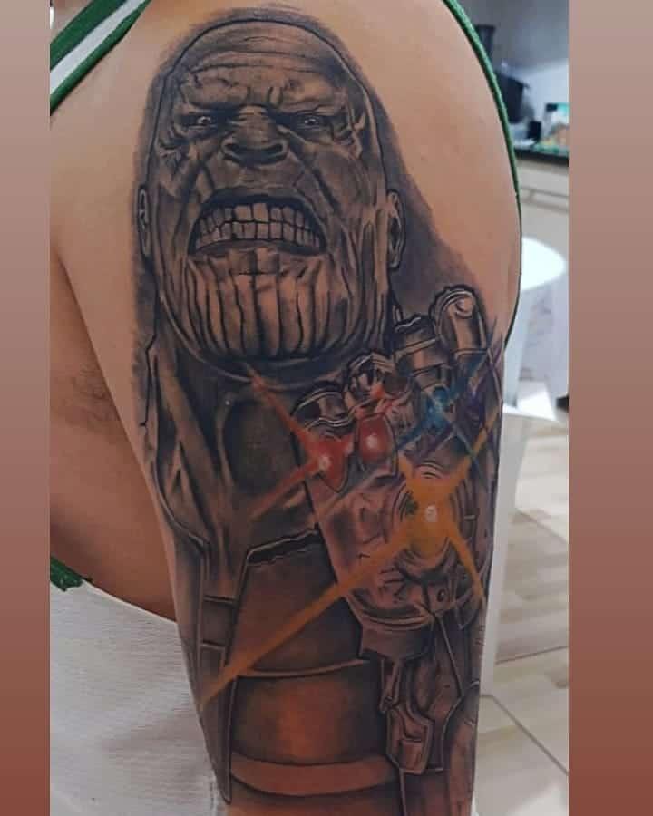 Sleeve Thanos Tattoo Murilo Real Tattoo