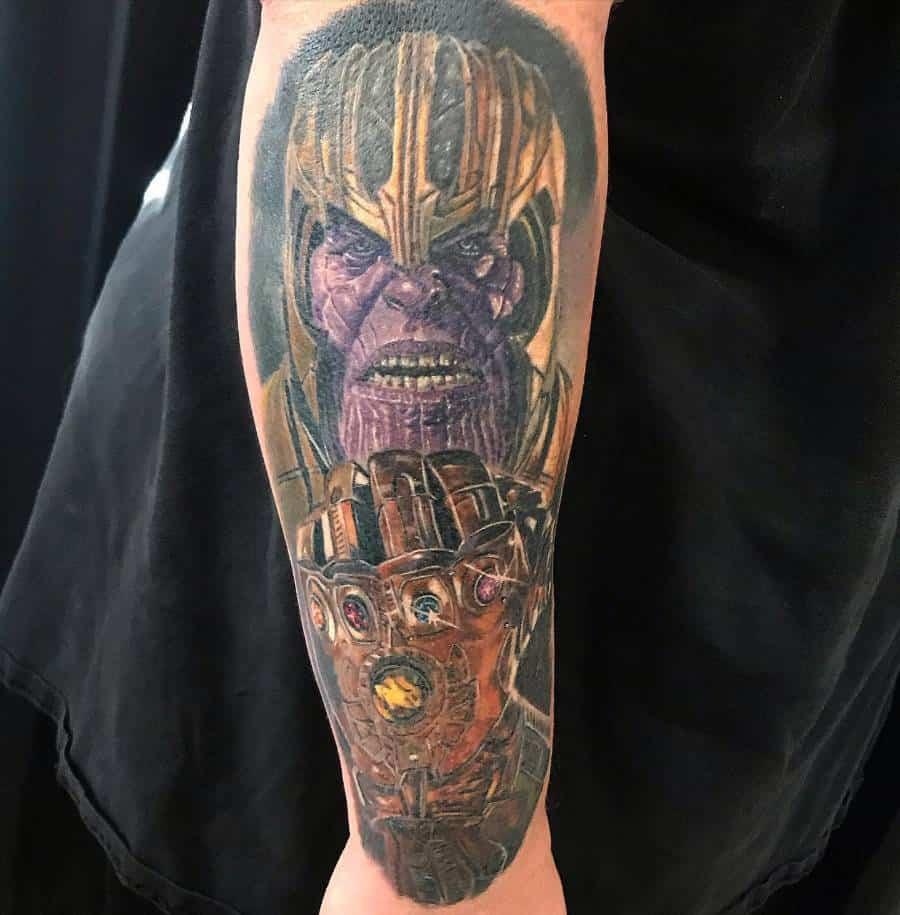 Sleeve Thanos Tattoo Myidiothearttattoos