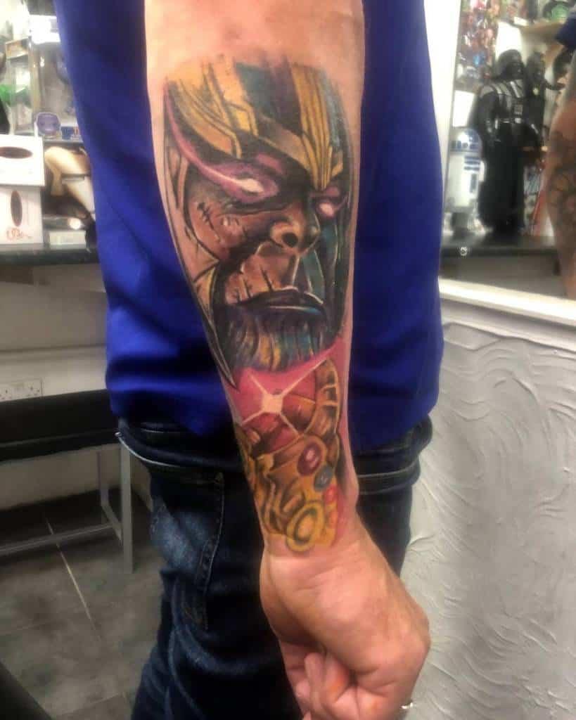 Sleeve Thanos Tattoo Nathantattooist