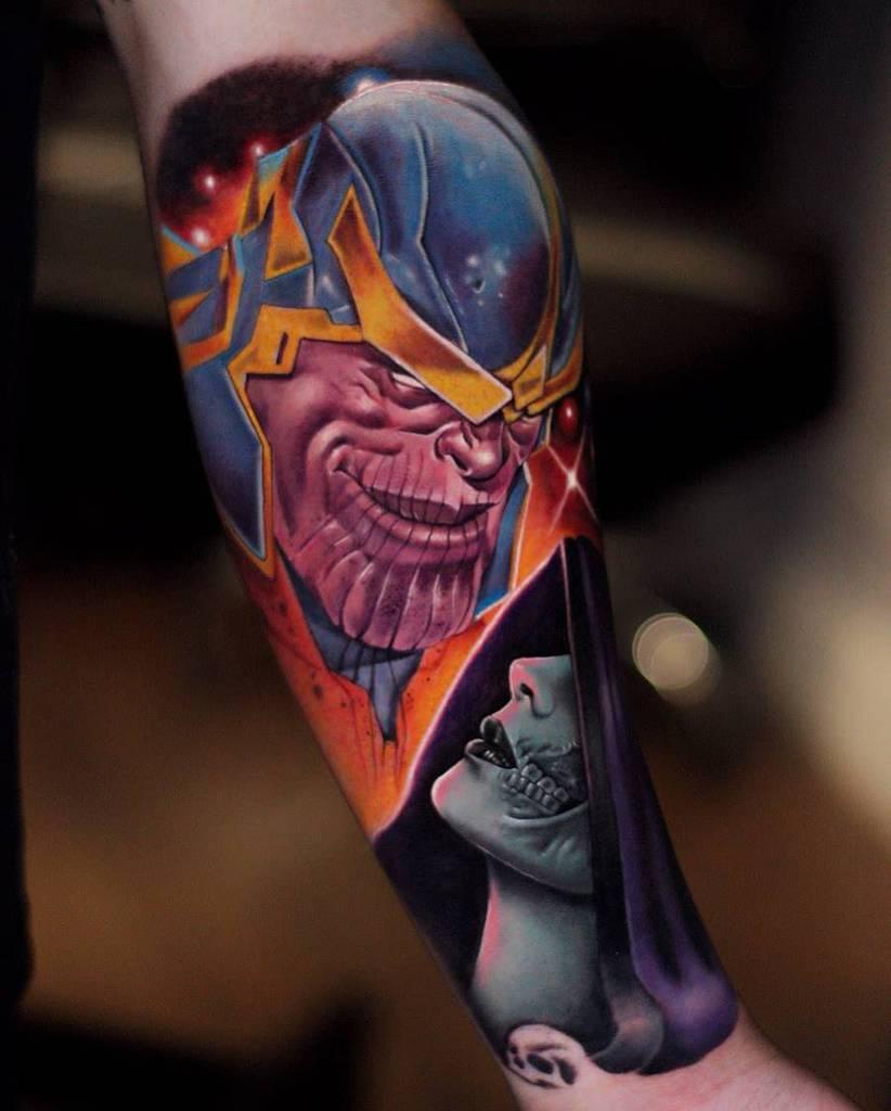 Sleeve Thanos Tattoo Select.tattoo