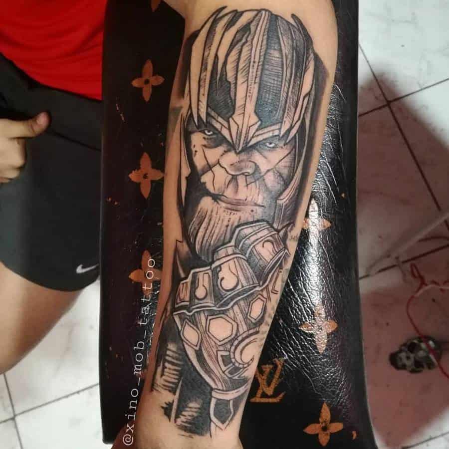Sleeve Thanos Tattoo Xino Mob Tattoo