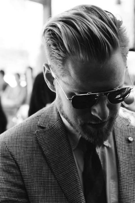 Slicked Back Hair For Men - 75 Classic Legacy Cuts