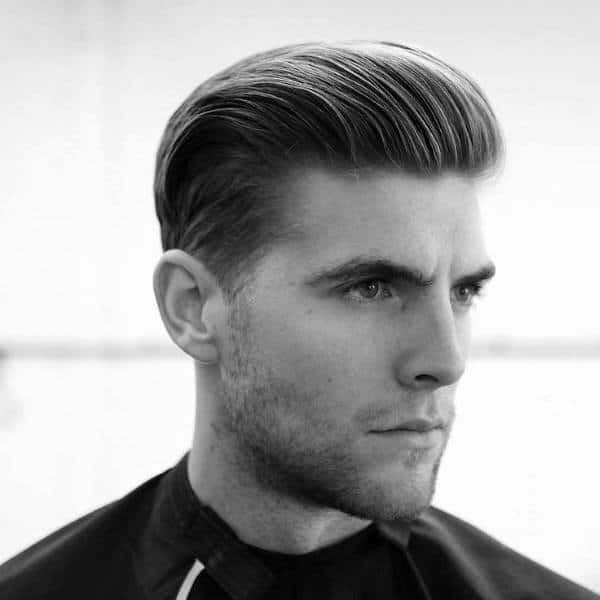 Slicked Back Debonair Classic Mens Hairstyles