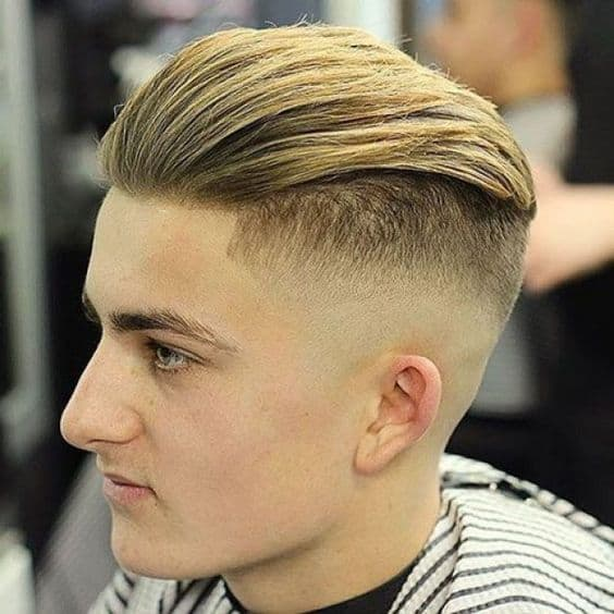 Slicked Back Fade Haircut