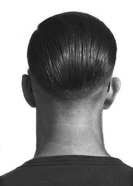 Slicked Back Greaser Hair For Men