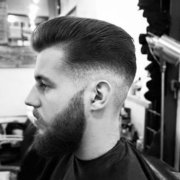 Slicked Back High Fade Guys Haircut Ideas