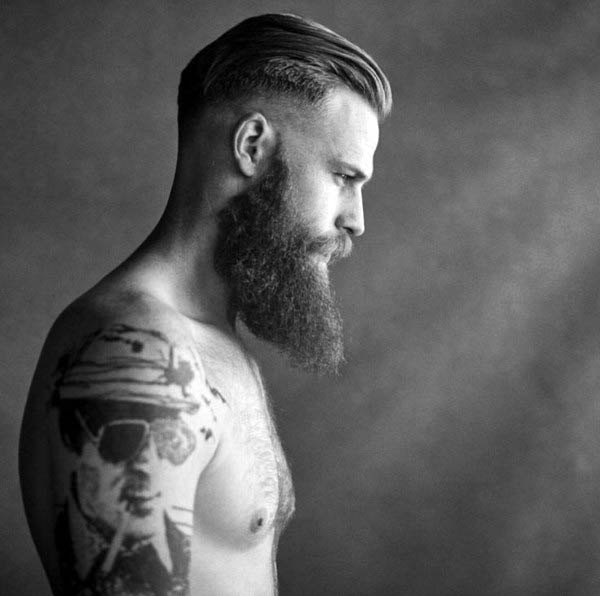 Slicked Back High Fade Haircut For Men
