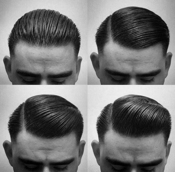 Slicked Back Manly Guys Greaser Haircut