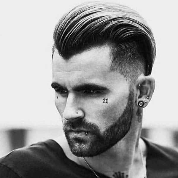 Slicked Back Medium Length Guys Haircuts For Thick Wavy Hair