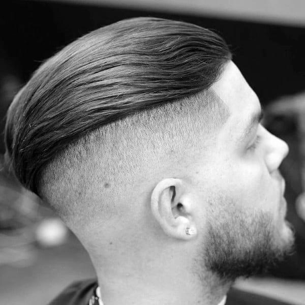 Slicked Back Mens Undercut Hair