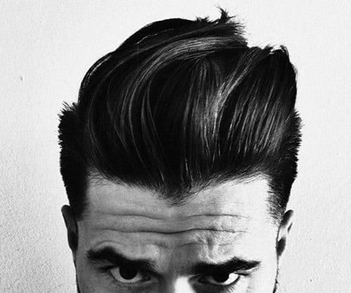 Slicked Back Pompadour Hair For Men
