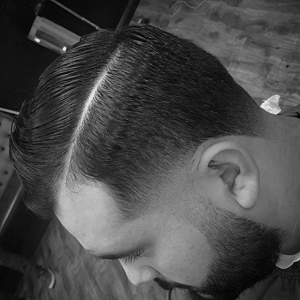 Slicked Comb Over Haircut Styles For Men