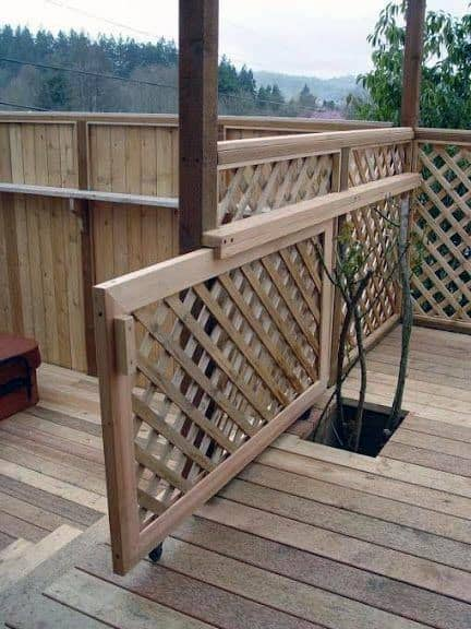 Sliding Lattice Backyard Deck Gate Design