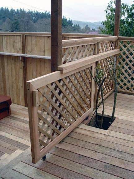 Top 50 Best Deck Gate Ideas Backyard Designs