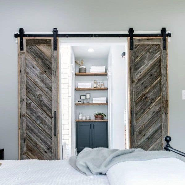 Sliding Rustic Reclaimed Wood Barn Door Ideas
