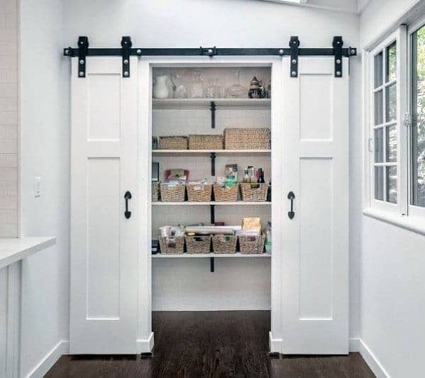 Sliding White Kitchen Pantry Door Ideas Inspiration