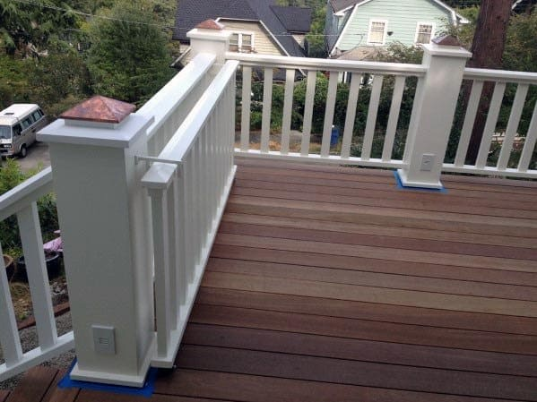 Sliding White Vinyl Designs Deck Gate