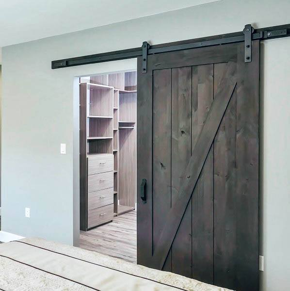 Sliding Wood Barn Door Awesome Closet Door Ideas